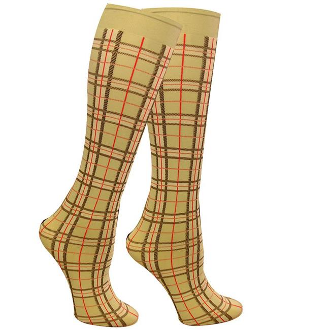 Wow SK6004GN 6-10 in. Boot Socks by Wow, Highland Plaid Fashion - Green - image 1 de 1