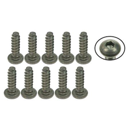 Integy RC Toy Model Hop-ups TS-BSM310S 3Racing M3 x 10 Titanium Button Head Hex Socket - Self Tapping (10 Pcs)