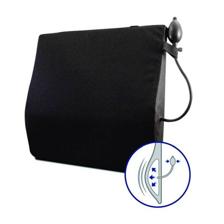 Adjustable Back Cushion - Avir Wheelchair Back Cushion with Adjustable Lumbar Support, 20