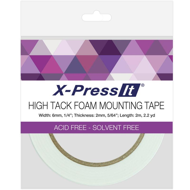 "X-press It High Tack Foam Mounting Tape-.25""x2.2yd"