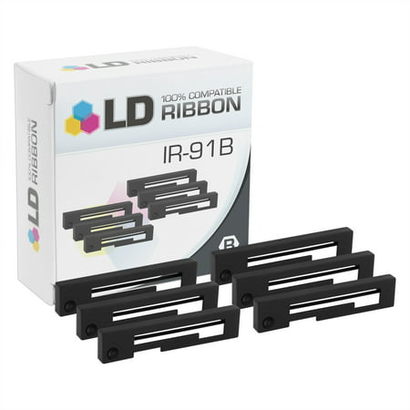 LD © Compatible Citizen IR-91B Set of 6 Black Printer Ribbon Cartridges Black 5095 Resin Printer Ribbon