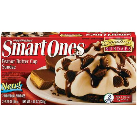 Weight Watchers Smart Ones Peanut Butter Cup Sundae Dessert, 4.58 oz ...