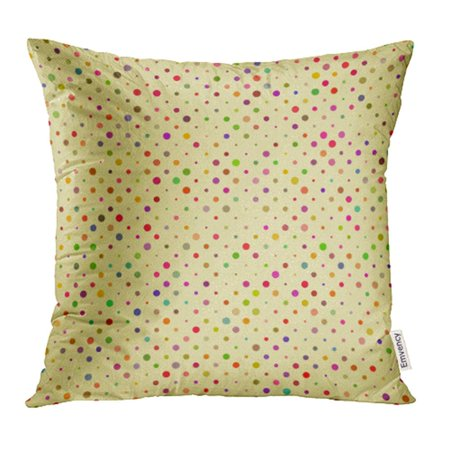 YWOTA Colorful Spot Polka Dot Pattern Red Vintage Plaid Picnic Material Flat Traditional Pillow Cases Cushion Cover 18x18 inch
