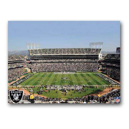 Oakland Raiders Stadium 22X28 Canvas Art