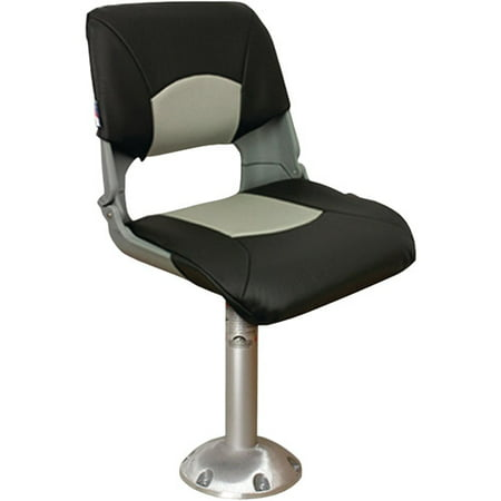 Springfield Skipper Chair Package (Includes Seat with Cushions, Pedestal and Floor Base and Locking Swivel) Todd Marine Chairs