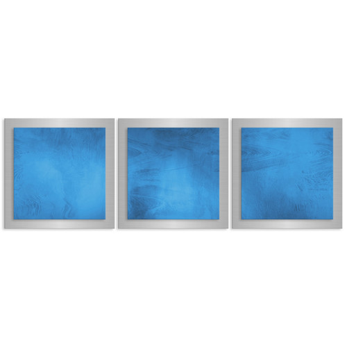 Metal Art Studio Essence by Nicholas Yust 3 Piece Graphic Art Plaque Set in Blue