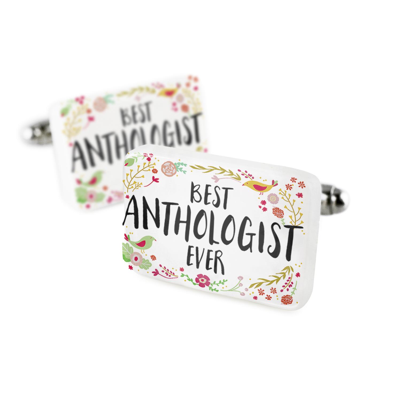 Cufflinks Happy Floral Border Anthologist Porcelain Ceramic NEONBLOND