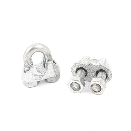 6mm U-Bolt M4.5 Threaded Metal Wire Rope Cable Clip Clamp Fastener Rigging (Featherweight Thread Clip)