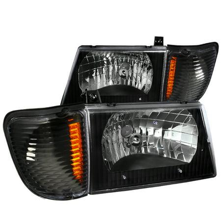 Spec-D Tuning For 1992-2006 Ford E150 E250 E350 Econoline Van Headlight + Corner Lights Park Lamps Black (Left+Right) 1992 1993 1994 1995 1996 1997 1998 1999 2000 2001 2002 2003 2004 2005 2006 2001 Chevrolet Cavalier Radiator
