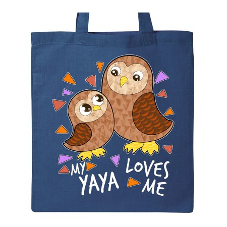 My Yaya Loves Me- cute owl family Tote Bag Royal Blue One Size - Cute Tote Bags
