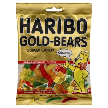 Haribo Gummi Candy Bears Original Assortment 5oz Bag 12 Carton