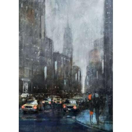 NYC Winter 1 Poster Print by Ken Roko