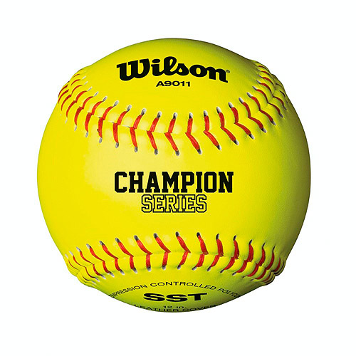"Wilson A9011 12"" Optic Yellow Fastpitch Softball, 12pk"