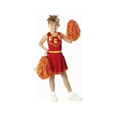 Red Cheerleader Costume (Child's Red & Gold Cheerleader)