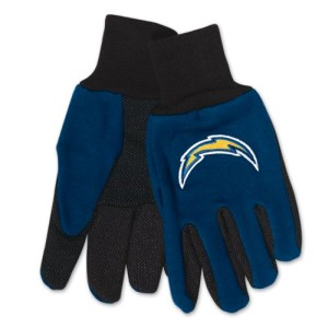 San Diego Chargers Two Tone Gloves Adult Size by McArthur