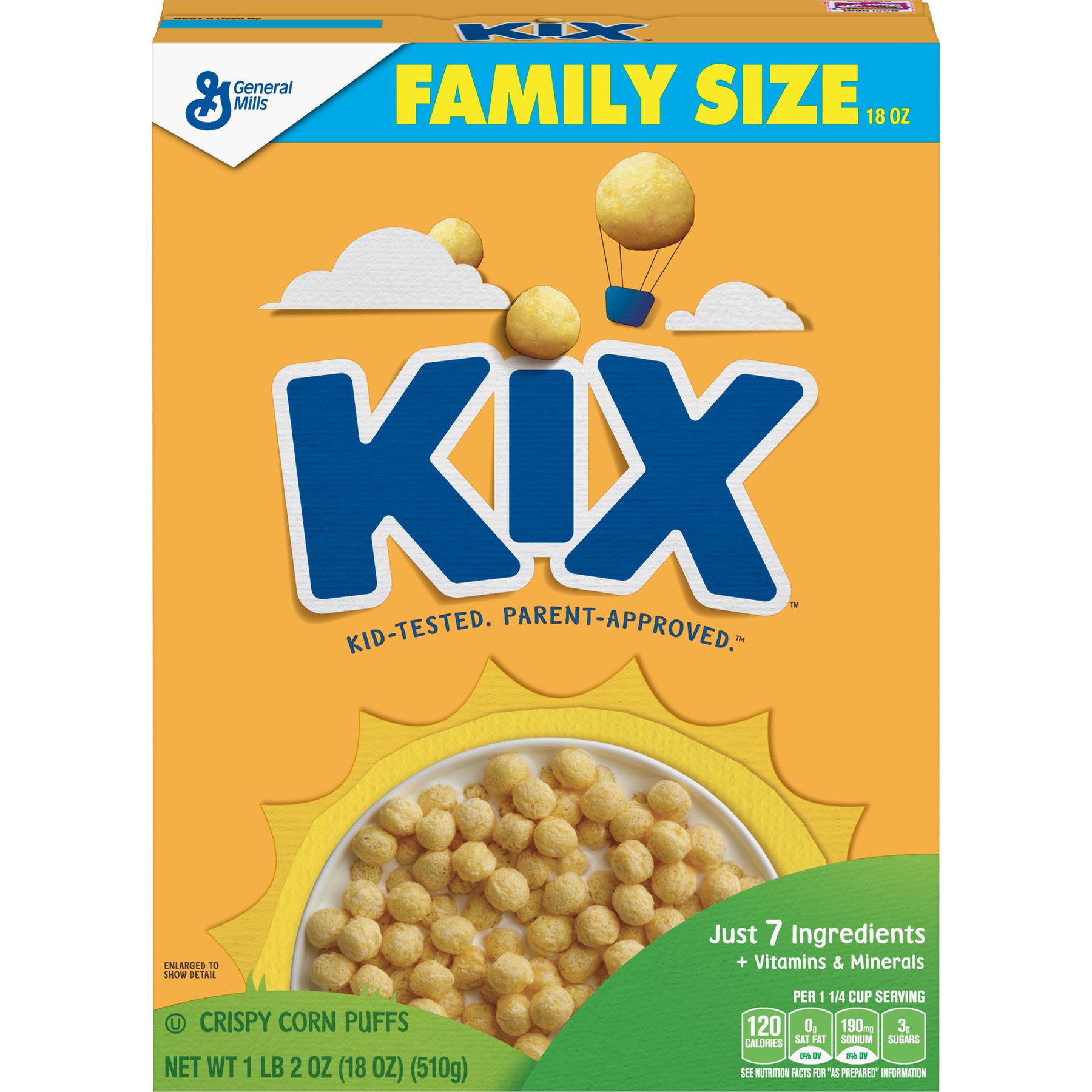 kix breakfast cereal crispy corn puffs cereal 18 oz