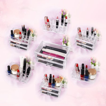 Unique Bargains Clear Acrylic Makeup & Lipstick Organizer Cosmetic Brush Holder Display Stand 12-Section