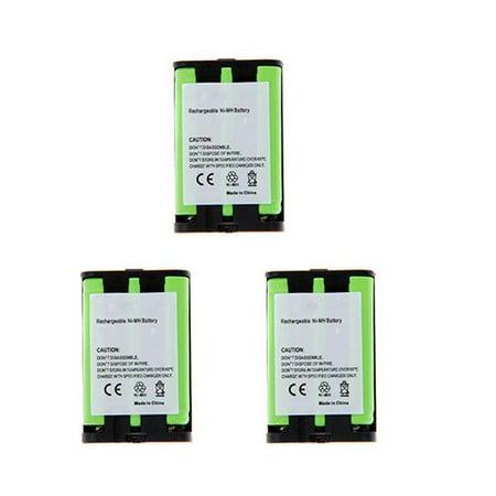 Panasonic HHR-P107 Cordless Phone Battery Combo-Pack includes: 3 x UL107 Batteries Panasonic Cordless Battery