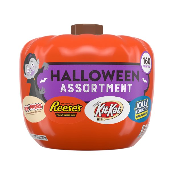 Hershey, Halloween Assorted Pumpkin Bowl Miniatures Candy, 160 Ct. - Walmart.com - Walmart.comListsWalmart+Gift Finder