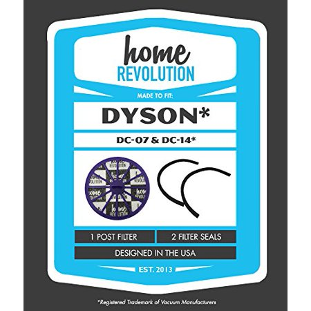 Dyson DC07 DC-07 Home Revolution Brand Replacement Post Motor Allergy HEPA Filter and 2 Seals; Compare With All Dyson DC07 and Dyson DC14 Upright Vacu
