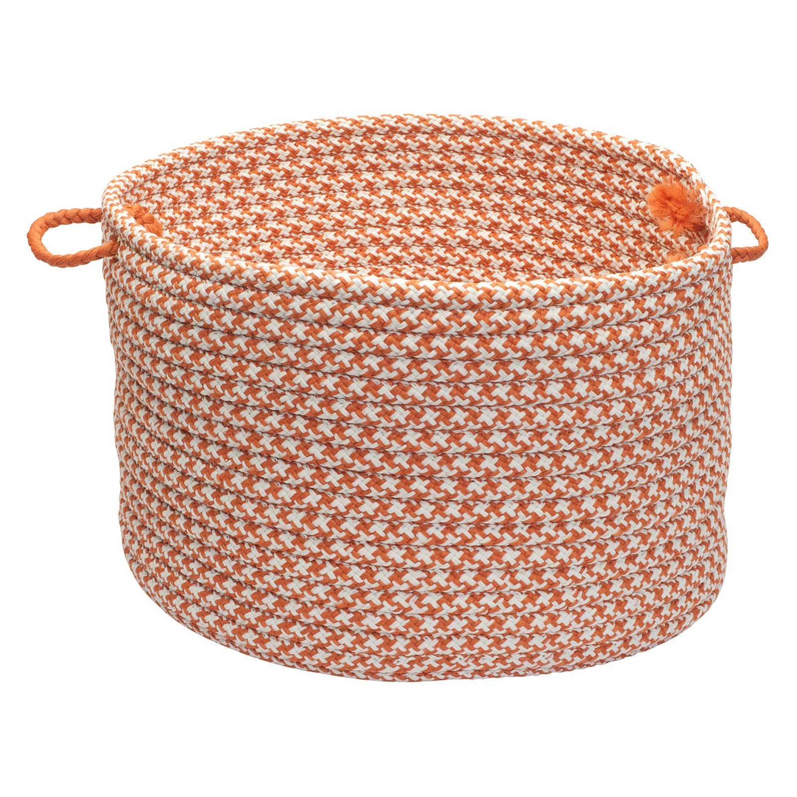 Outdoor Houndstooth Tweed Storage Basket - available in 2 sizes