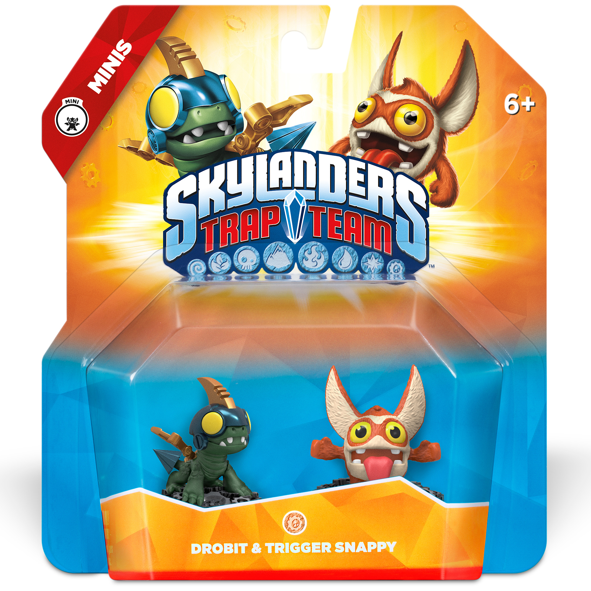 Skylanders Trap Team Drobit / Trigger Snappy 2 pack Mini Character Pack (Universal)