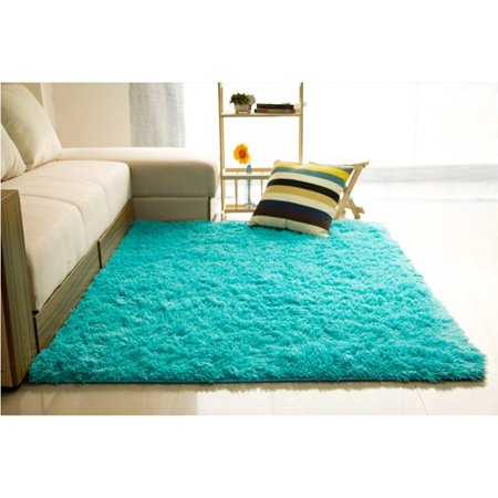 48x32 inch Modern doormat Soft Fluffy Floor Rug Anti-skid Shag Shaggy Area Rug Bedroom Dining Room Carpet Yoga Mat Winter Child Play Mat ()