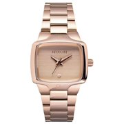 Nixon Women's A300897 The Small Player Rose Gold Dial Rose Gold Steel Bracelet Diamond Watch