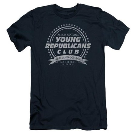 Trevco Family Ties-Young Republicans Club - Short Sleeve Adult 30-1 Tee - Navy, Extra Large