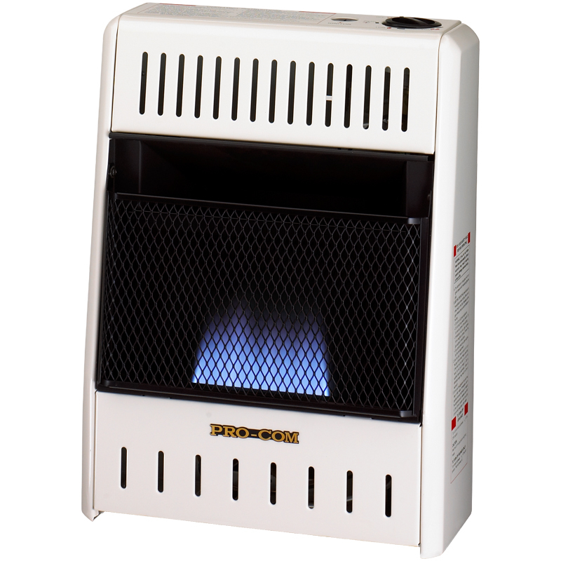 ProCom Natural Gas Ventless Blue Flame Heater - 6,000 BTU, Model# MN060HBA