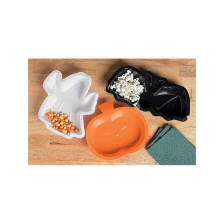 Fun Express - Halloween Shaped Dishes for Halloween - Party Supplies - Serveware & Barware - Serving Platters - Halloween - 12 Pieces - Halloween Platters