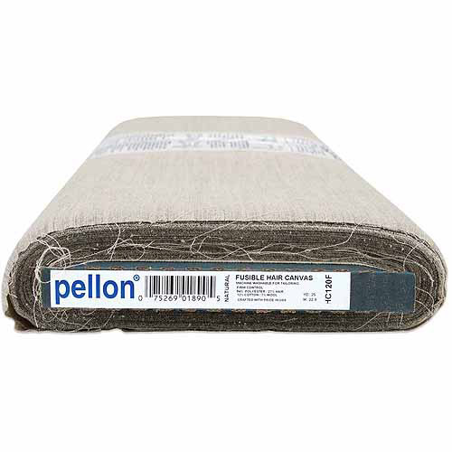 "Pellon Fusible Woven Hair Canvas, 22"" x 25 yds, Natural"