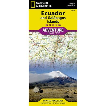 National Geographic Adventure Map Ecuador   Galapagos Islands