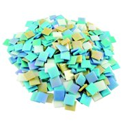 Iridized Venetian Glass Tile Assortment, Assorted Colors, 3 Pounds