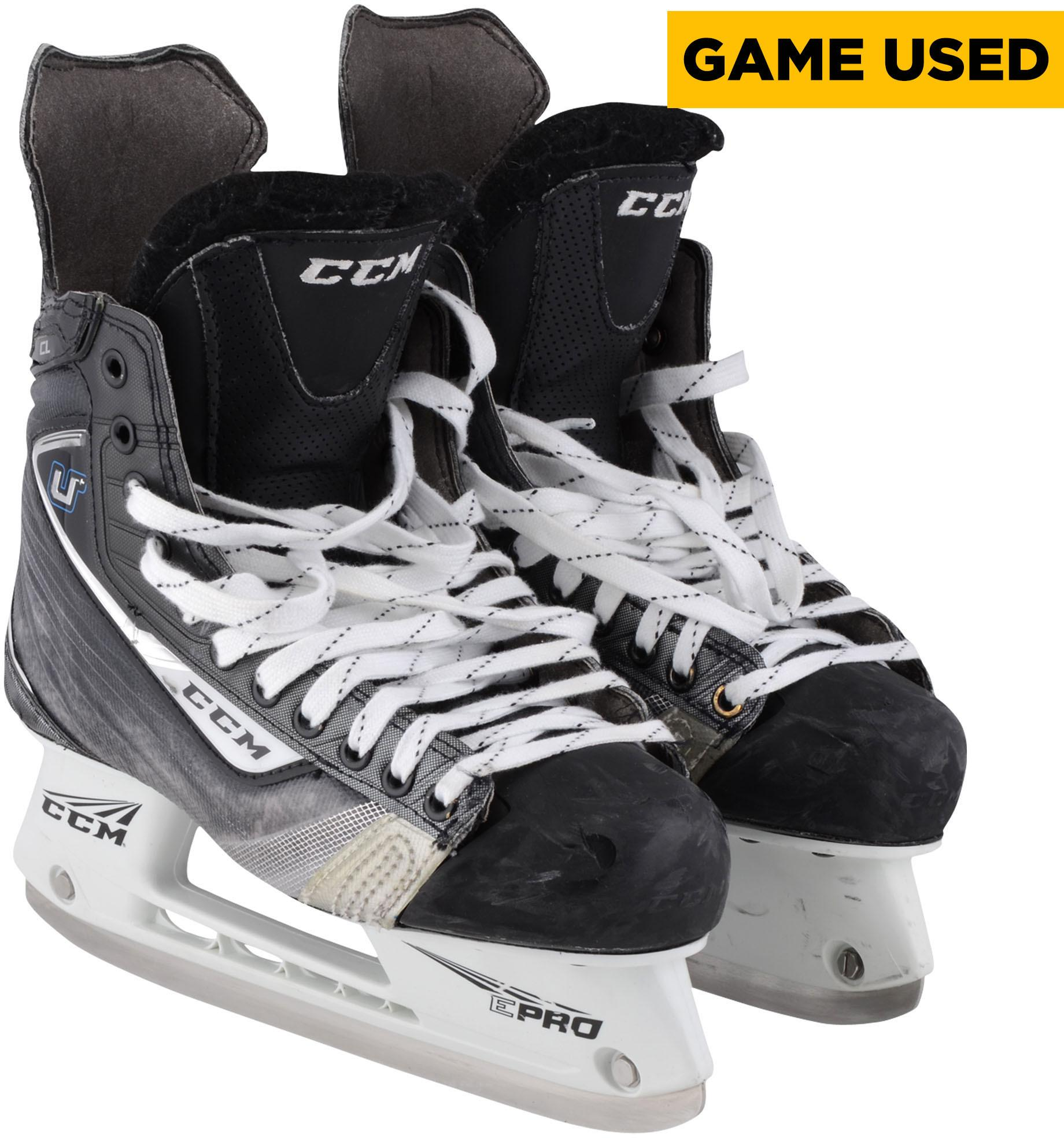 Joel Ward San Jose Sharks Game-Used Black CCM Skates from the 2017-18 NHL Season Fanatics Authentic Certified by Fanatics Authentic