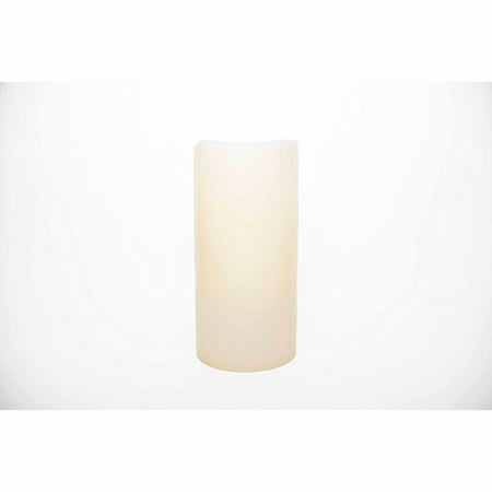 The Amazing Flameless Candle Wax Pillar, Smooth Ivory, Unscented, 10mm LED, Timer and Remote Ready