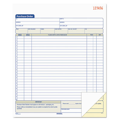 Purchase Order Book TOP46146 by