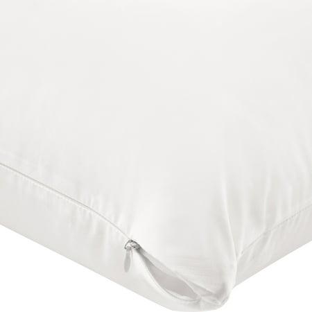 Mainstays Ultra-Soft Cotton Zippered Pillow Protector, Standard/Queen