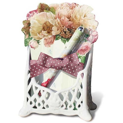 August Grove Carlson 3 Piece Ceramic Memo Pad Holder by