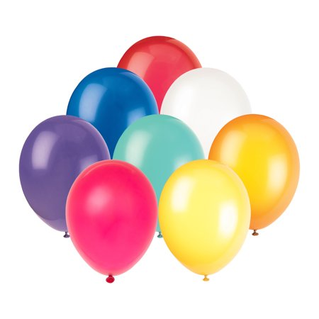 Latex Balloons, Assorted, 12in, 72ct - Outdoor Balloon Lights