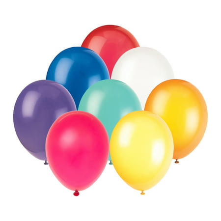Latex Balloons, Assorted, 12in,