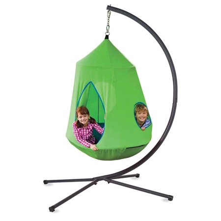 Awesome Hugglepod Hangout Special Kids Hanging Chair Crescent Stand Green Uwap Interior Chair Design Uwaporg