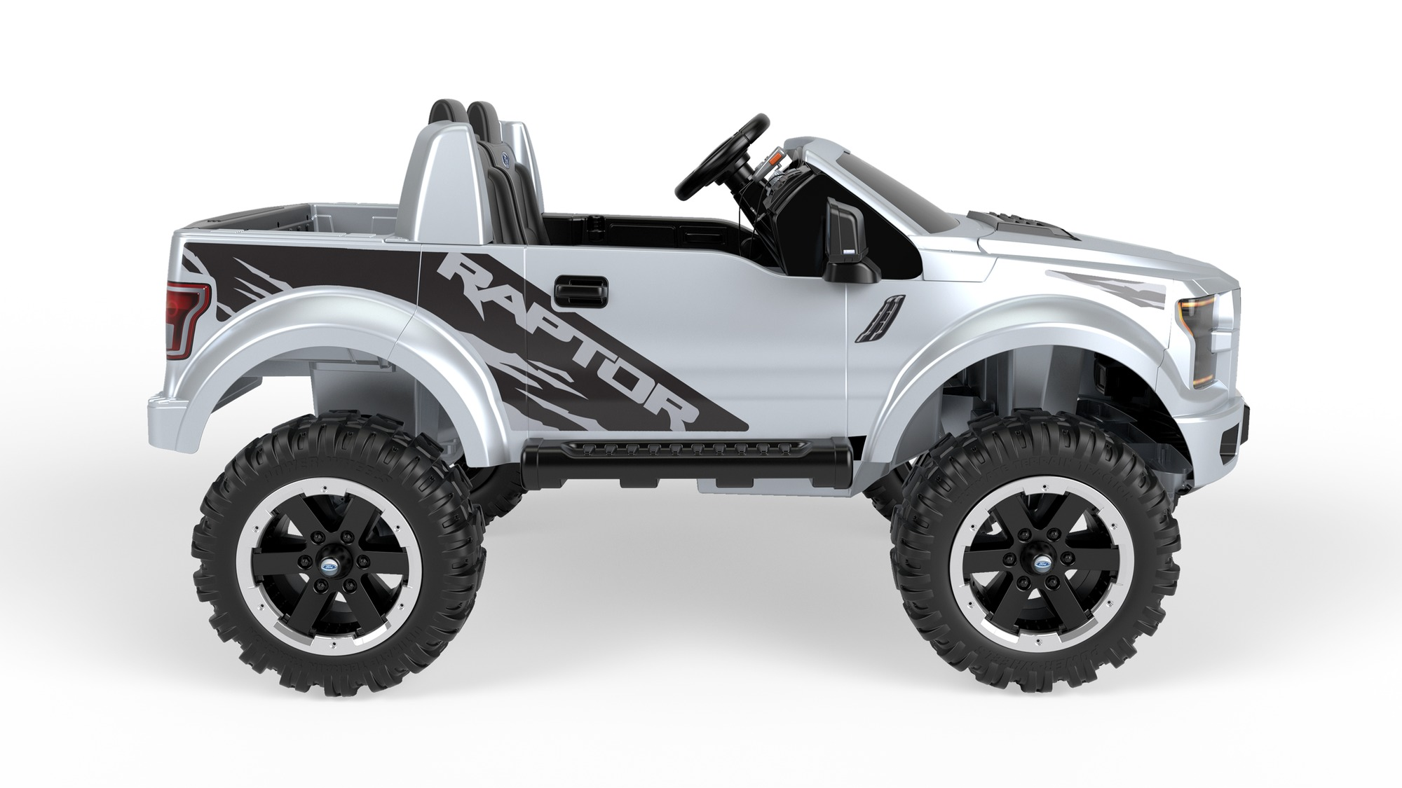 power wheels ford f 150 raptor extreme silver kids ride toys truck xmas gift new ebay. Black Bedroom Furniture Sets. Home Design Ideas