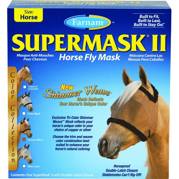 SuperMask II Standard Horse Fly Mask With Double Latch Closure