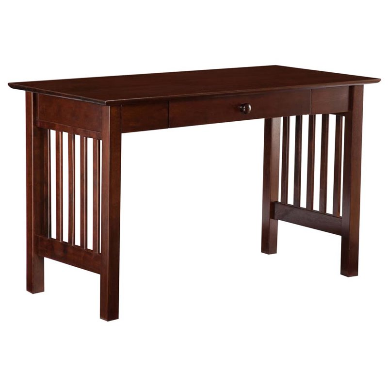 Atlantic Furniture Mission Writing Desk in Walnut