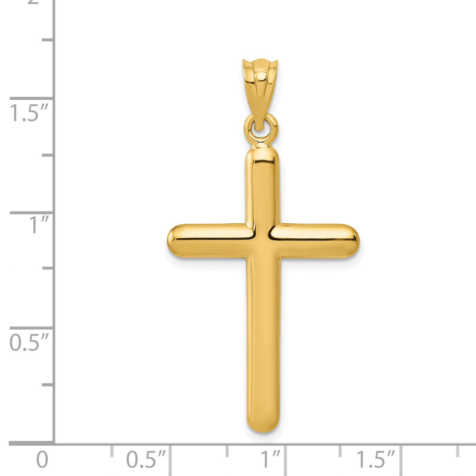 14k Yellow Gold Cross Religious Pendant Charm Necklace Latin Fine Jewelry Gifts For Women For Her