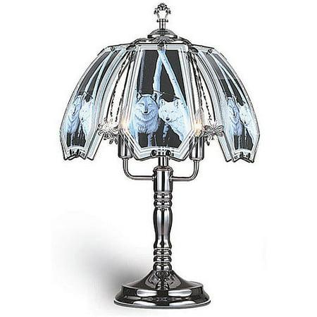 Ok Lighting 23 5 H Wolf Theme Touch Lamp Black Chrome