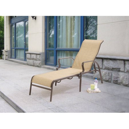 Mainstays wesley creek sling lounge tan for Braddock heights chaise lounge