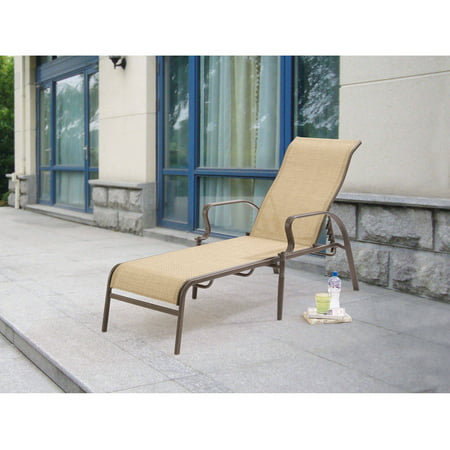 Mainstays Wesley Creek Sling Outdoor Chaise Lounge - Walmart.com
