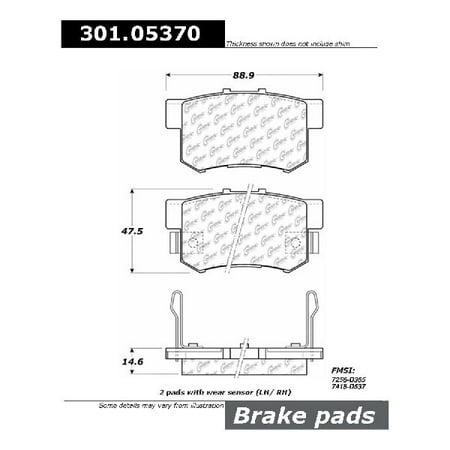 Integra Brake (Go-Parts » 1997-2001 Acura Integra Rear Disc Brake Pad Set for Acura Integra (Type R))